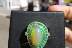 emerald & opal Ring