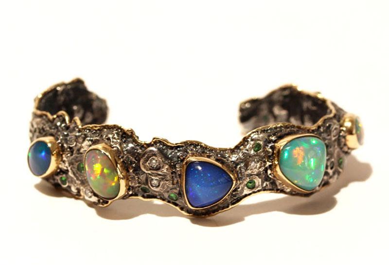 Opal Cuff Bracelets Mens Jewelry