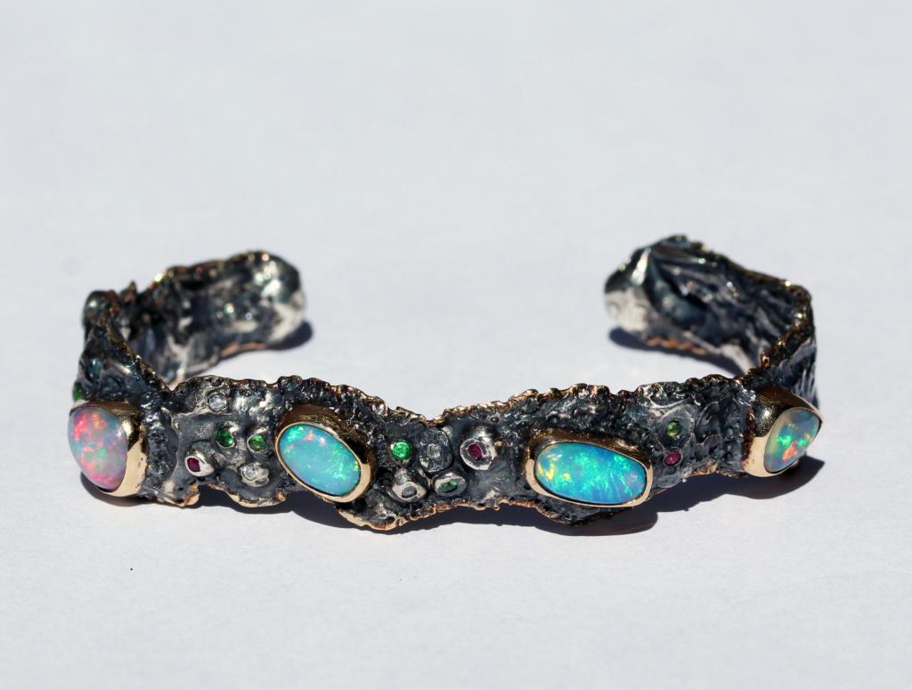 Opal Cuff Bracelets Men's Jewelry